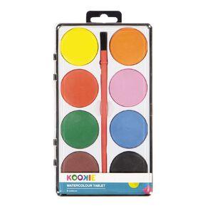 Kookie Watercolour Tablet 8 Pack Multi-Coloured