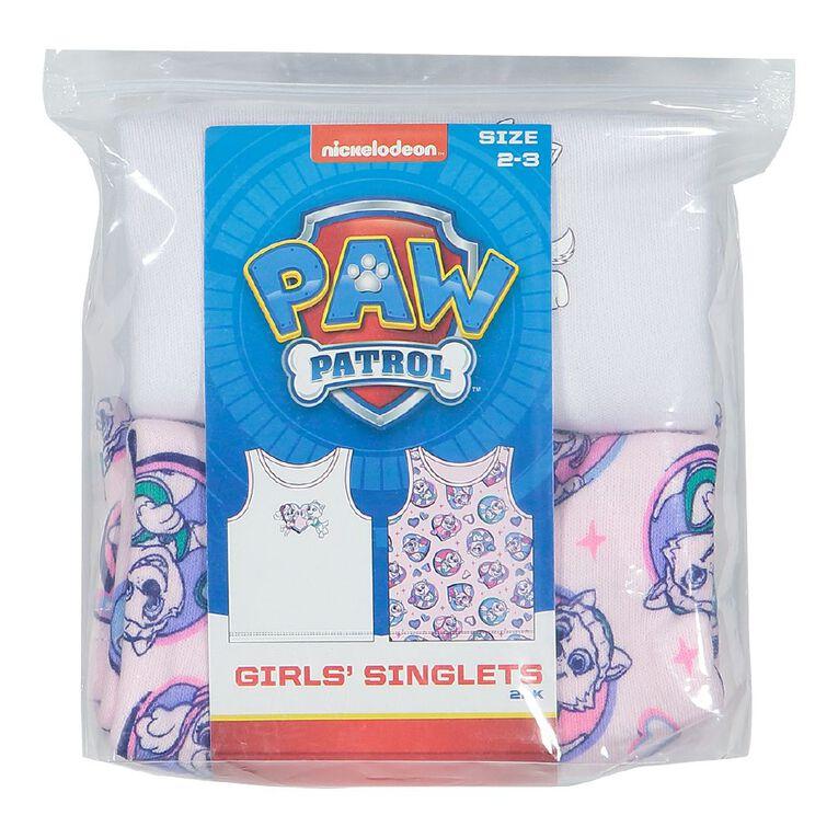 Paw Patrol Girls' Singlet 2 Pack, Pink Light, hi-res