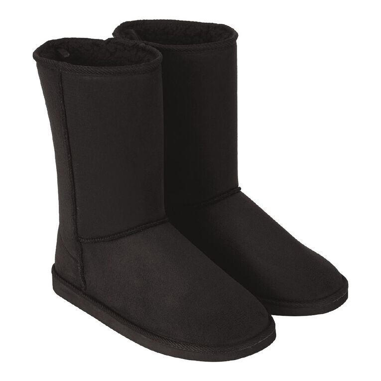 H&H Women's Candyfloss Slipper Boots, Black, hi-res image number null