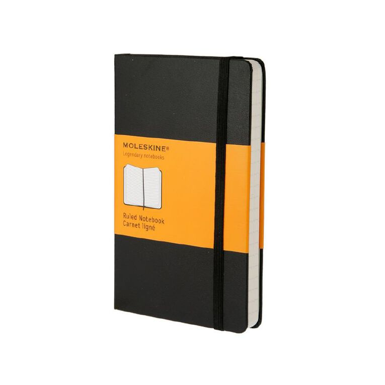 Moleskine Classic Hard Cover Notebook Ruled Black, , hi-res