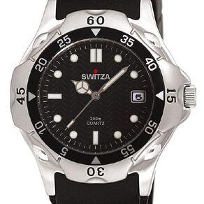 Switza Men's Sports Watch with Black Dial