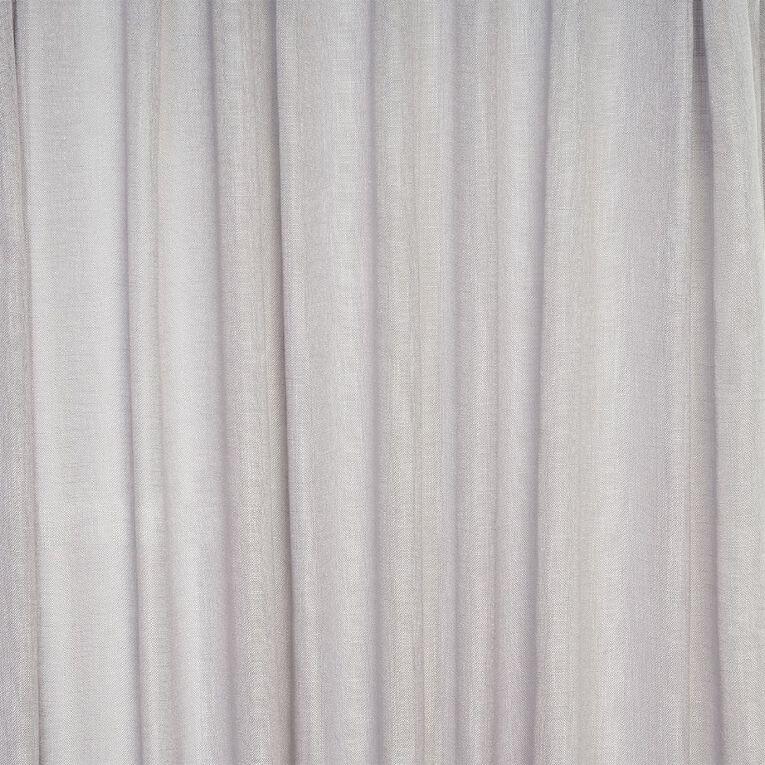 Living & Co Piha Tab Top Voile Dove Grey 90-180cm x 240cm Drop, Grey, hi-res