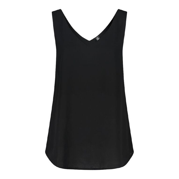 H&H Women's Wide Strap Cami, Black, hi-res