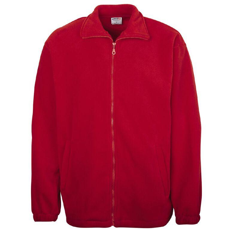 Schooltex Full Zip Polar Fleece Jacket, Red, hi-res