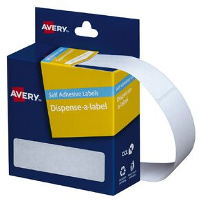 Avery White Rectangle Dispenser Stickers 64x19mm 280 Labels Handwritable