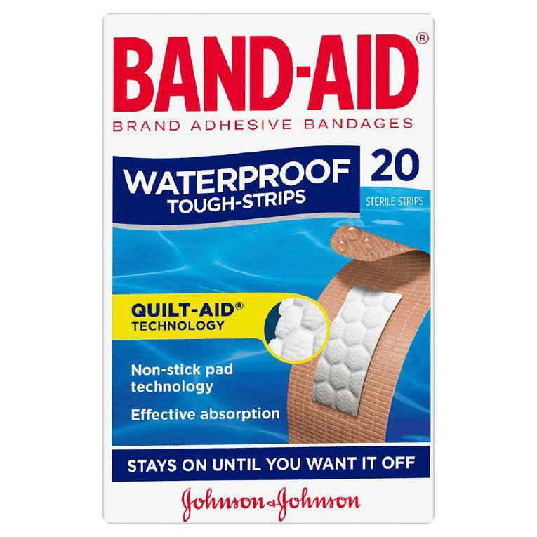 Band Aid Tough Strip Waterproof 20 Pack, , hi-res