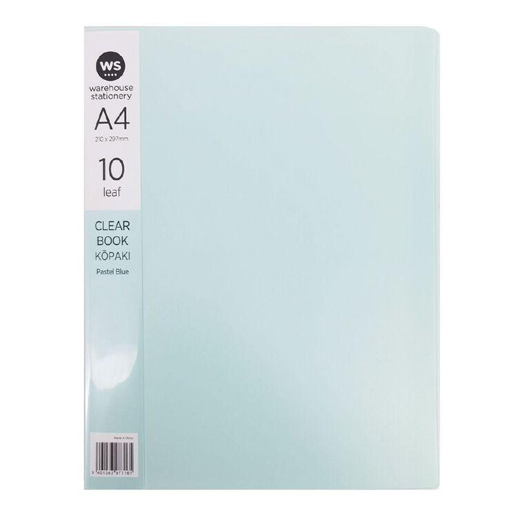 WS Clear Book 10 Leaf Pastel Blue A4, , hi-res