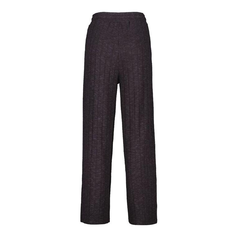 H&H Women's Brushed Wide Leg Pants, Charcoal/Marle, hi-res
