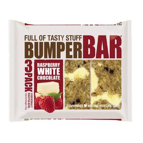 Bumper Bars Raspberry White Chocolate 3 Pack