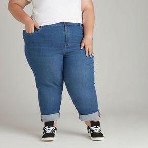 H&H Women's Plus Straight Leg Jeans