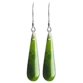 Jade Drop Earrings 30mm