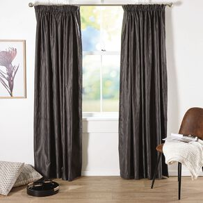 Living & Co Swirl Curtains Charcoal 150-230cm Wide/160cm Drop