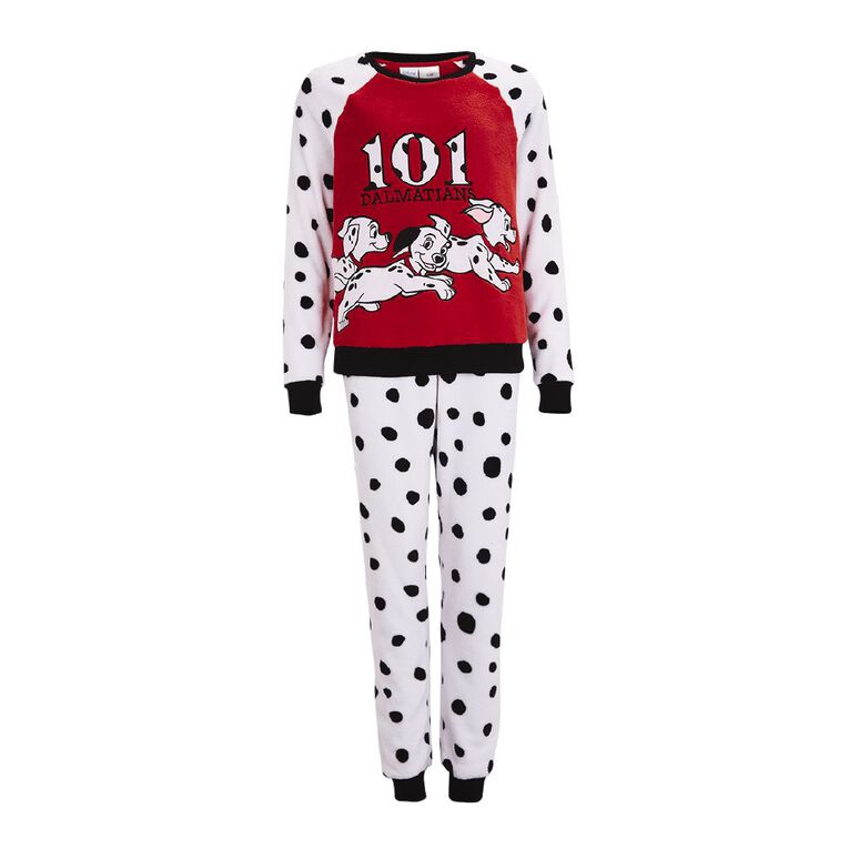 Disney Women's 101 Dalmatians Twosie Pyjama, White, hi-res