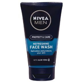 Nivea Protect & Care Men Face Wash Gel Refreshing 150ml