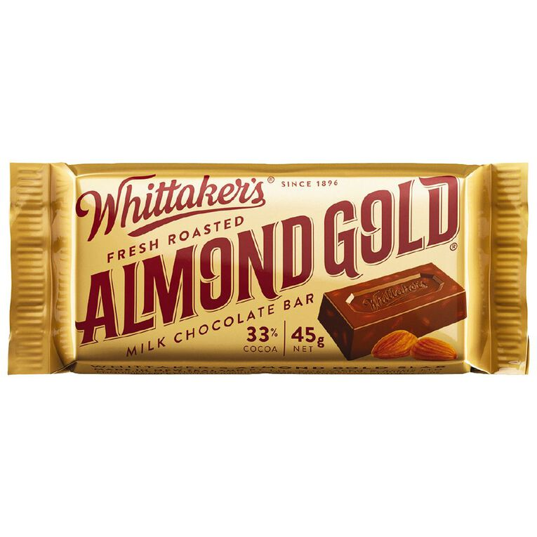 Whittakers Almond Gold Slab Chocolate Bar 50g, , hi-res