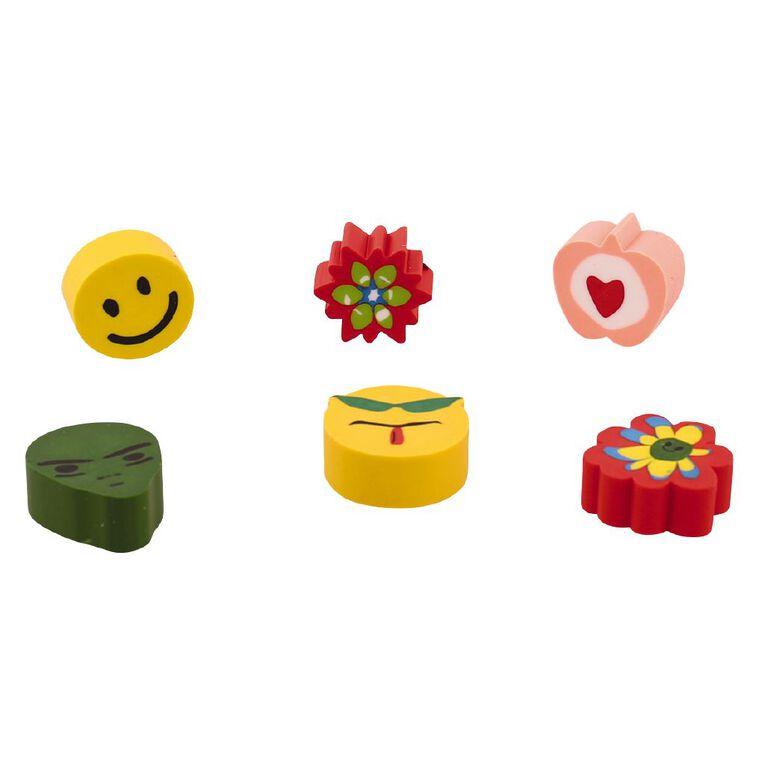 Stationery Essentials Erasers 6 Pack, , hi-res