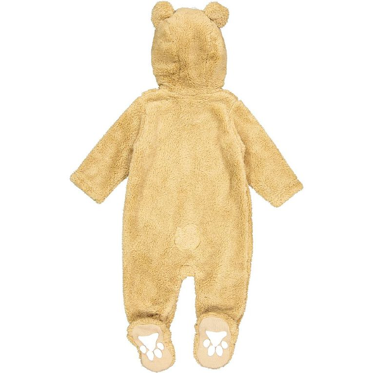 Young Original Baby Coral Fleece Coverall, Brown Mid, hi-res