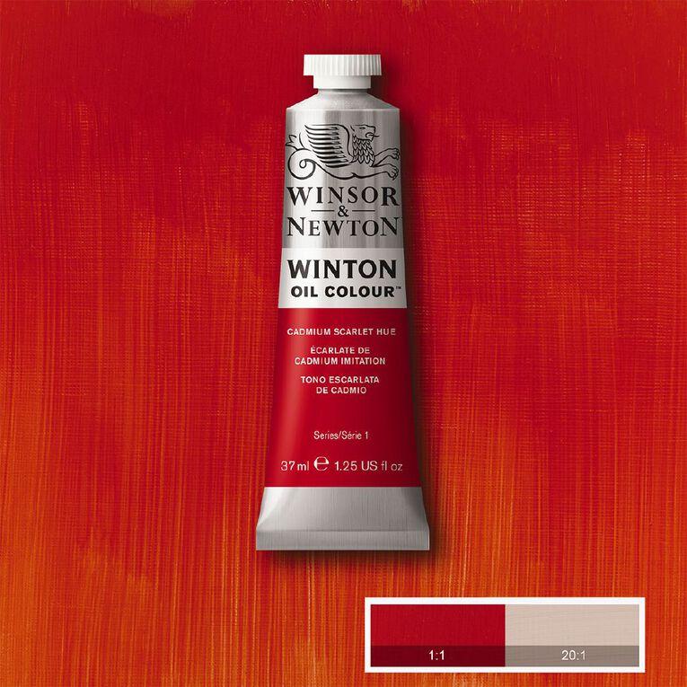 Winsor & Newton Winton Oil Cad Scarlet Hue 37ml, , hi-res