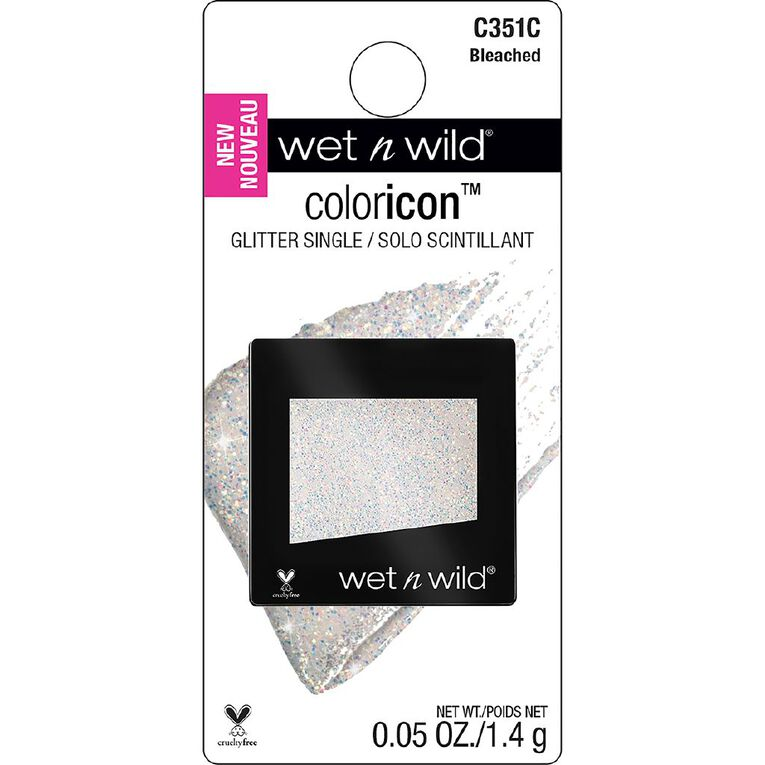 Wet n Wild Color Icon Eyeshadow Glitter single Bleached, , hi-res