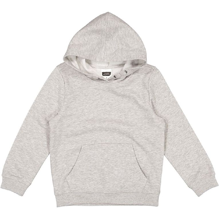 Young Original Boys' Plain Pullover Sweatshirt, Grey Marle, hi-res