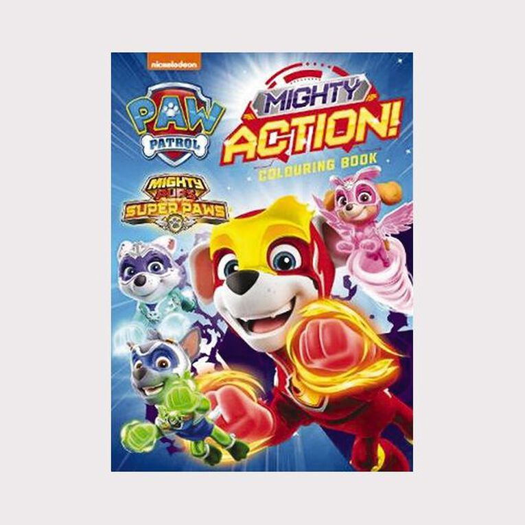 Paw Patrol Mighty Pups Colouring Book, , hi-res