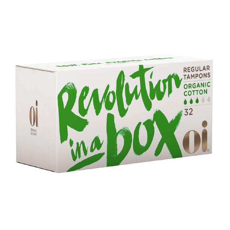 Oi Organic Cotton Tampon Regular 32 pack, , hi-res