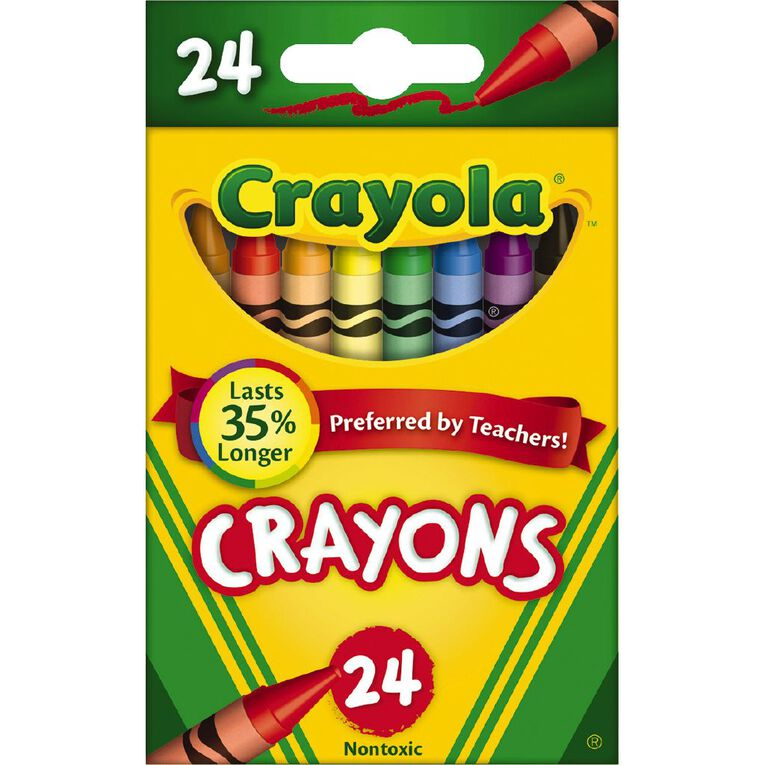 Crayola Crayons Multi-Colored 24 Pack Multi-Coloured 24 Pack, , hi-res