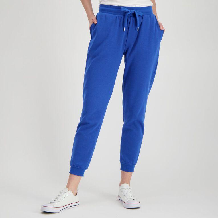 H&H Women's Cuffed Trackpants, Blue Dark, hi-res