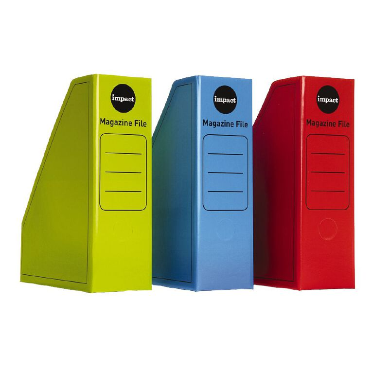Impact Magazine File 3 Pack Hot Colours, , hi-res