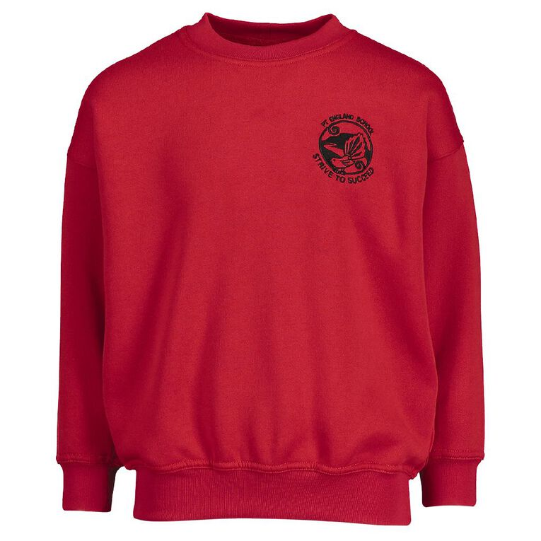 Schooltex Pt England Sweatshirt with Embroidery, Red, hi-res