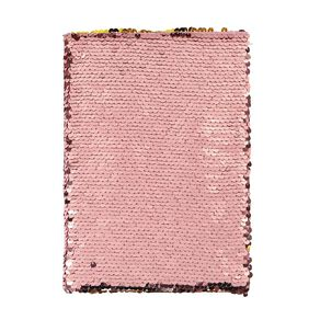 Kookie Enchanted Reversible Sequins Notebook Coral A5
