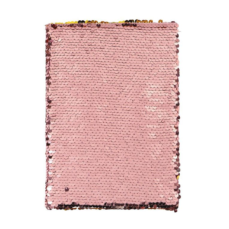 Kookie Enchanted Reversible Sequins Notebook Coral A5, , hi-res