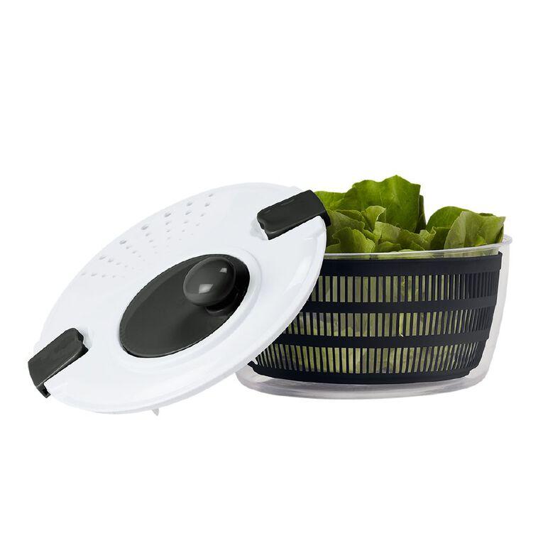 Living & Co Salad Spinner White/Black, , hi-res