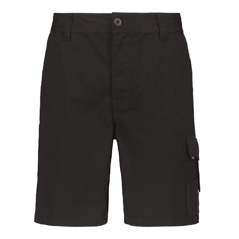 Rivet Men's Utility Shorts, Black, hi-res