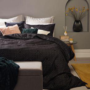 Living & Co Duvet Cover Deco Black