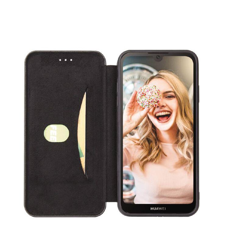 INTOUCH Huawei Y5 (2019) Milano Wallet Case Black, , hi-res
