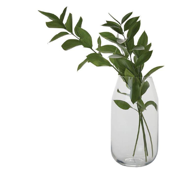 Living & Co Tapered Vase 21.5cm Clear, , hi-res