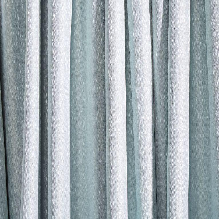 Living & Co Metro Curtains Blue 230-330cm Wide/205cm Drop, Blue, hi-res