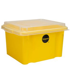 Impact Suspension File Box With Lid Yellow