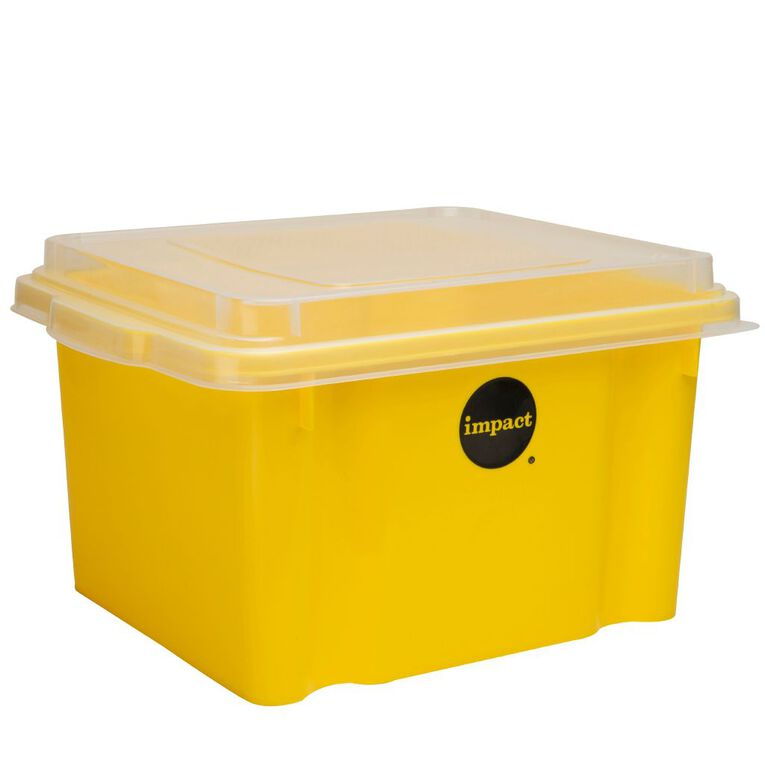 Impact Suspension File Box With Lid Yellow, , hi-res