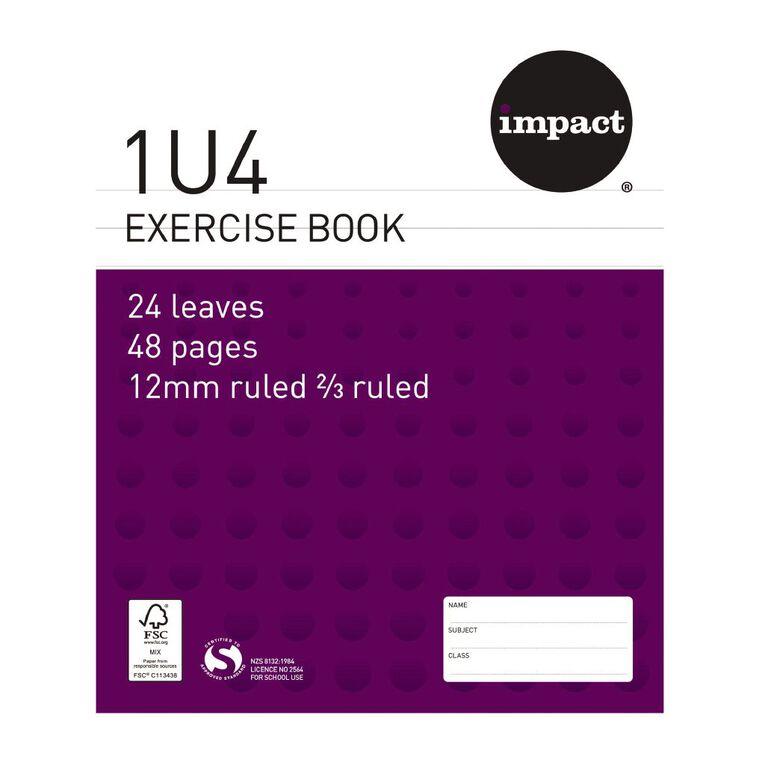 WS Exercise Book 1U4 12mm Ruled 24 Leaf Purple, , hi-res image number null