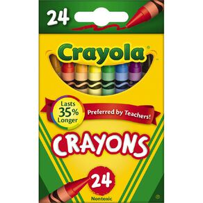 Crayola Crayons Multi-Coloured 24 Pack