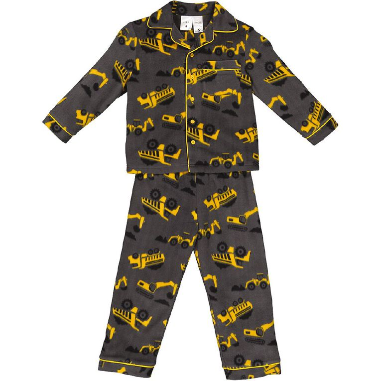 H&H Boys' Fleece Pyjamas, Grey, hi-res