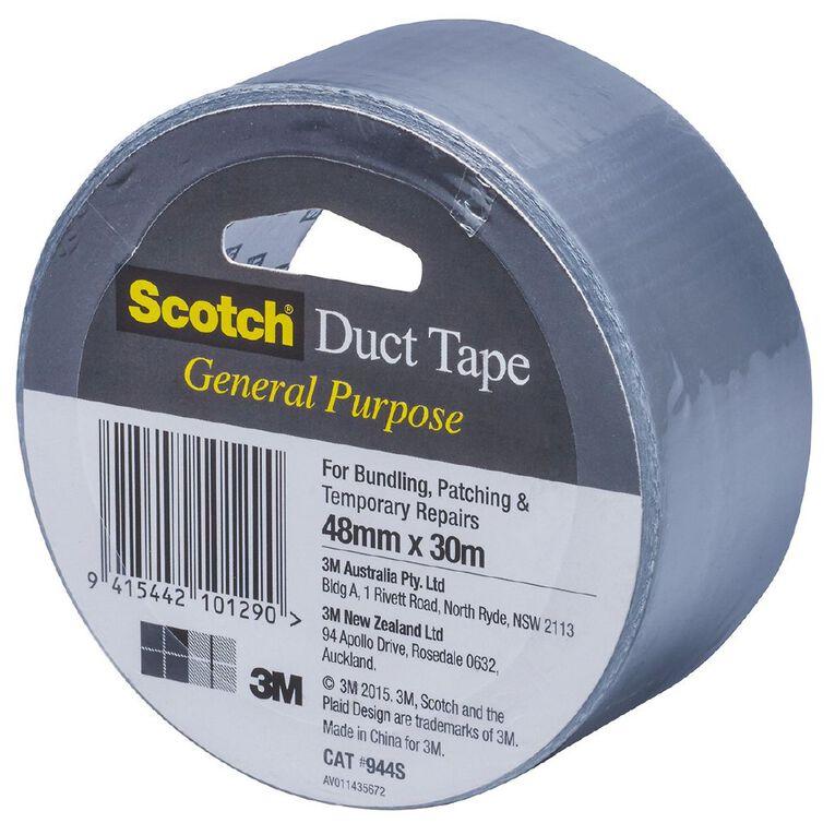 Scotch General Purpose Duct Tape 48mm x 30m Silver, , hi-res
