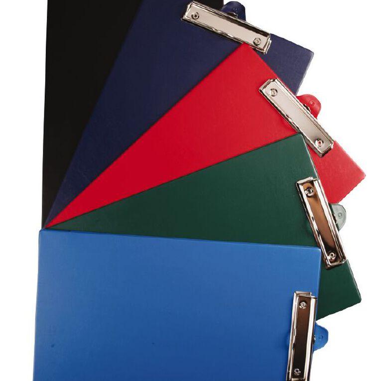GBP Stationery Foolscap Pvc Single Clipboard Blue, , hi-res
