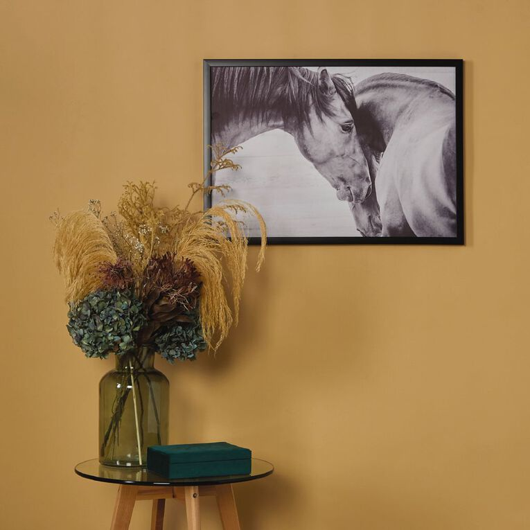 Living & Co Horse Duo Framed Print Black 50 x 70 x 2.3cm, , hi-res