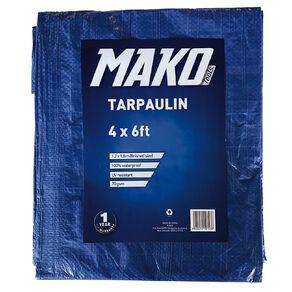 Mako Tarpaulin Blue 70gsm 4ft x 6ft