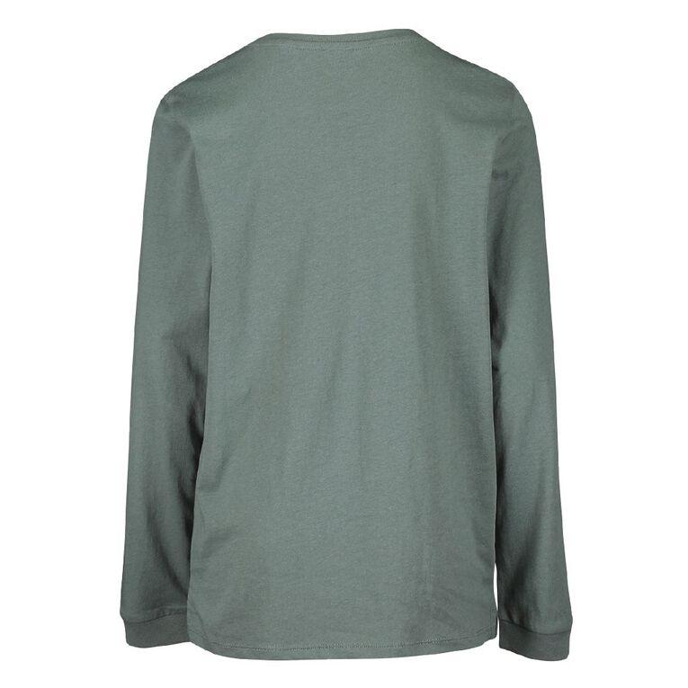 Young Original Long Sleeve Print Cuff Tee, Green, hi-res