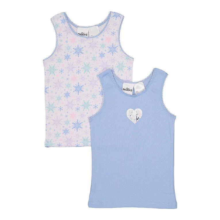 Disney Princess Girls' Singlet 2 Pack, Light Blue, hi-res