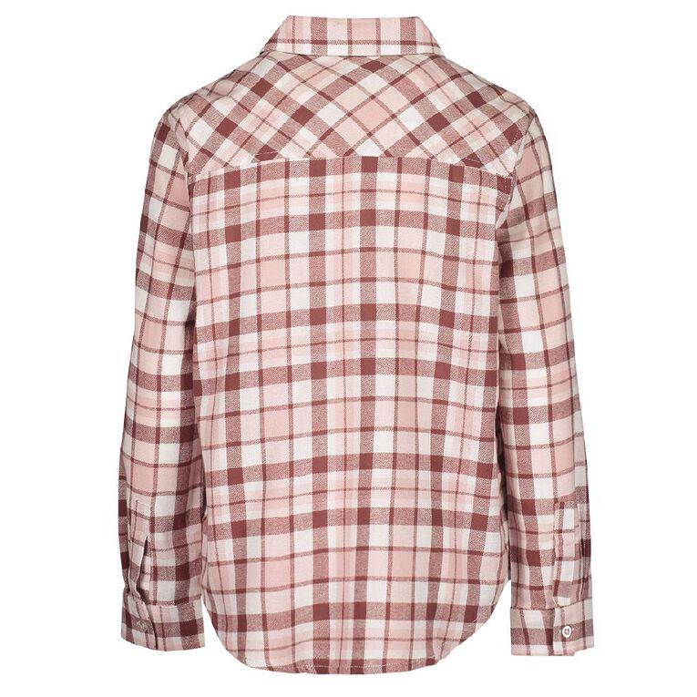 Young Original All Over Print Check Shirt, Pink Mid, hi-res
